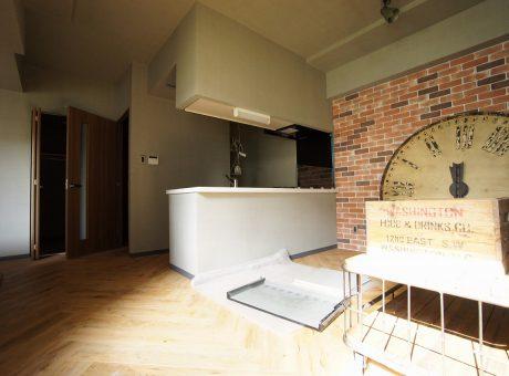 2号室タイプの1LDKにも家具が入っております
